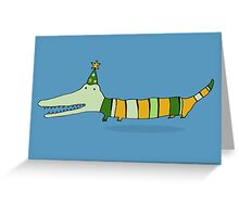 Stripey Mr Crocodile Greeting Card