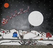 Santa Over The Moon by JeffreyKoss