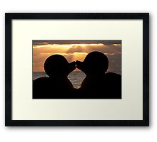 """""""The Kiss"""" - the rubber duckies smooching Framed Print"""