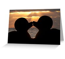 """""""The Kiss"""" - the rubber duckies smooching Greeting Card"""