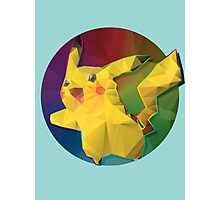 Geometric Pikachu [Rainbow] Photographic Print