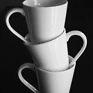 coffee mugs by Karen E Camilleri