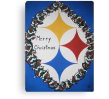 Steelers Christmas Card Canvas Print
