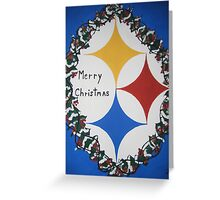 Steelers Christmas Card Greeting Card