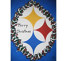 Steelers Christmas Card Photographic Print