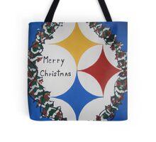 Steelers Christmas Card Tote Bag