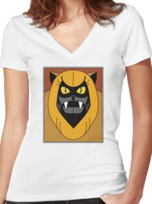 Ookla The Mok - Saturday Morning Cartoon Pop Art Women's Fitted V-Neck T-Shirt