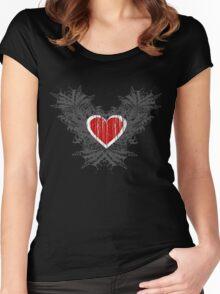 Open Heart Women's Fitted Scoop T-Shirt