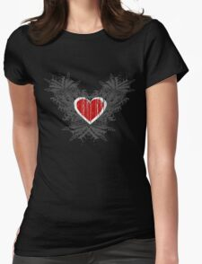 Open Heart Womens Fitted T-Shirt