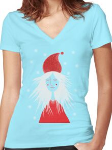 Girl is ready for Christmas. Xmas is here. Christmas fairy Women's Fitted V-Neck T-Shirt