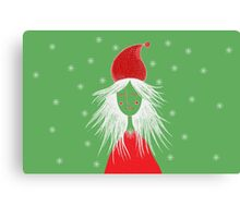 Girl is ready for Christmas. Xmas is here. Christmas fairy Canvas Print