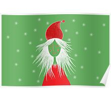 Girl is ready for Christmas. Xmas is here. Christmas fairy Poster