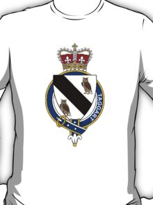 Coat of arms (family crest) for last-name or surname Taggart or MacTaggart (Scotland) . Heraldry banner for your name. T-Shirt