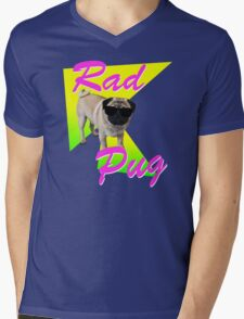 Rad Pug Mens V-Neck T-Shirt