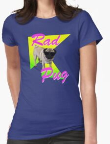 Rad Pug Womens Fitted T-Shirt