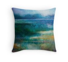MISTY MORNING, GREAT LAKE Throw Pillow