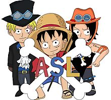 One Piece Luffy Sabo Ace Brothers Photographic Print