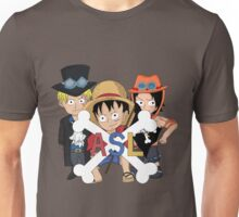 One Piece Luffy Sabo Ace Brothers Unisex T-Shirt