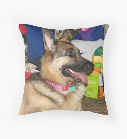 Dressed Up for Christmas Throw Pillow