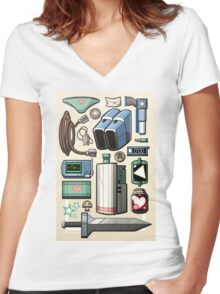 Cave Story Gear Women's Fitted V-Neck T-Shirt