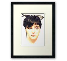 pinup bust Framed Print