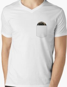 There's a pug in my pocket Mens V-Neck T-Shirt