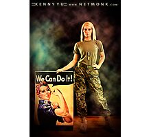 :::We Can Do It!::: Photographic Print