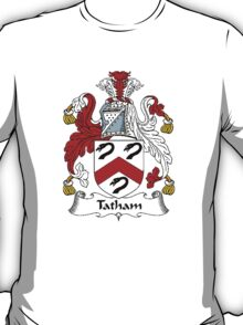 Coat of arms (family crest) for last-name or surname Tatham . Heraldry banner for your name. T-Shirt