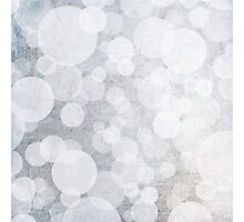 bubbles in blue and white and grey Photographic Print