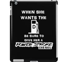 ford diesel powerstroke truck iPad Case/Skin
