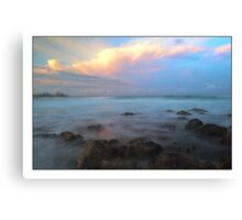 surfers sunset Canvas Print