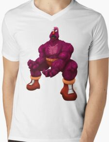Sesame Street Fighter: Zellygief Mens V-Neck T-Shirt