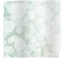 bubbles in green and white Poster