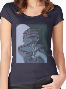 Fallen ribbon shadows Women's Fitted Scoop T-Shirt