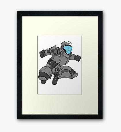 Jumping ODST Framed Print