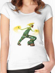 Sesame Street Fighter: Gurmit Women's Fitted Scoop T-Shirt
