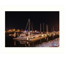 Masts in the Darkness Art Print