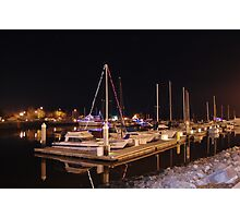 Masts in the Darkness Photographic Print