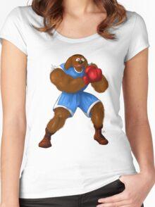 Sesame Street Fighter: Baldog Women's Fitted Scoop T-Shirt