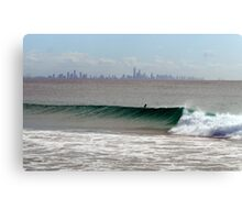 gold coast surf Canvas Print
