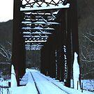 Petroleum Bridge at Twilight by Geno Rugh