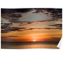carribean sunset Poster