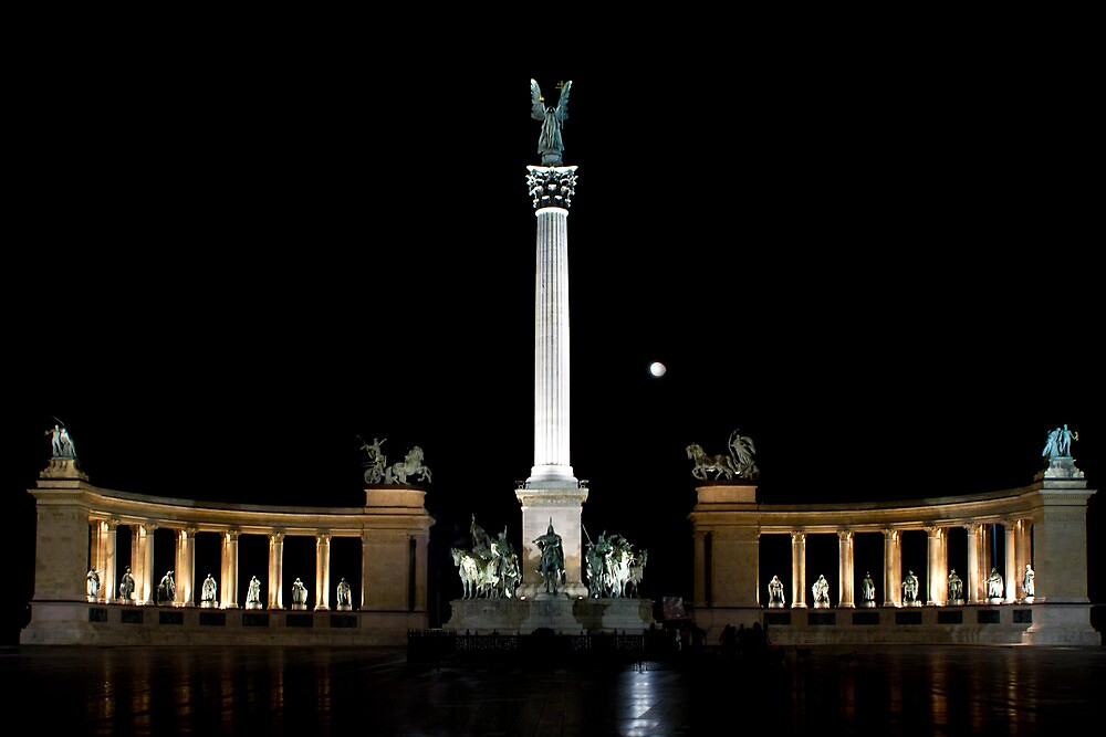Hero Square in the Night by Mariann Kovats