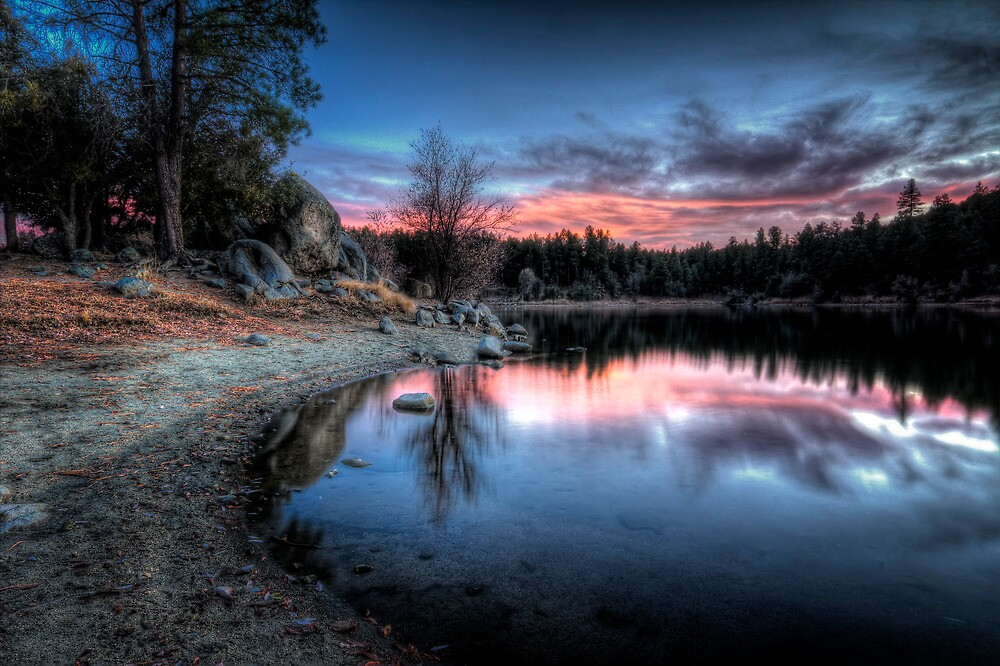 Curve Into Sunset by Bob Larson