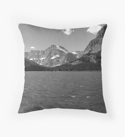 Swiftcurrent Lake, Many Glacier Throw Pillow