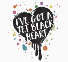 Jet Black Heart (paint splattered) Baby Tee