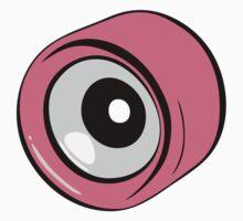 Roller Skate Wheel Pink by LudlumDesign