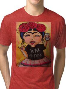 Frida Rocks / Frida Roquera Tri-blend T-Shirt