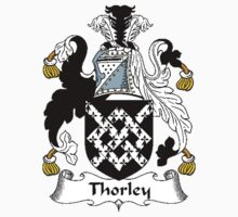 Coat of arms (family crest) for last-name or surname Thorley . Heraldry banner for your name. Kids Clothes