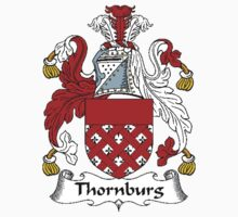 Coat of arms (family crest) for last-name or surname Thornburg (h) . Heraldry banner for your name. Kids Clothes